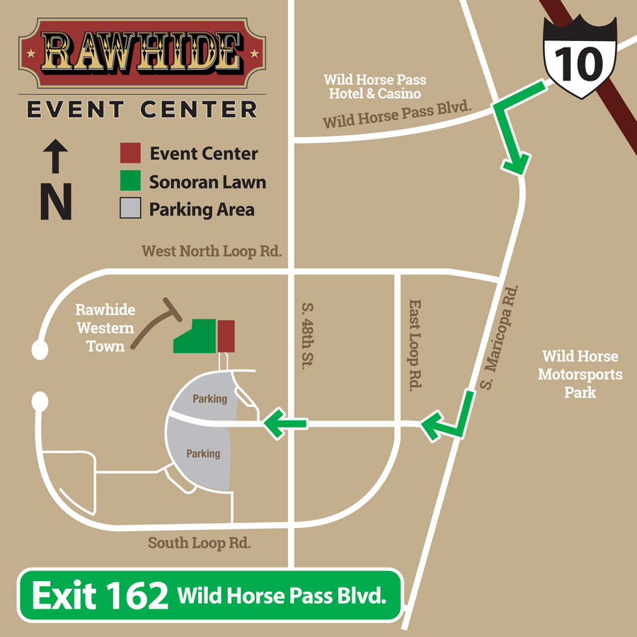 MAPS & DIRECTIONS – Rawhide…Your Way! Directional Maps on